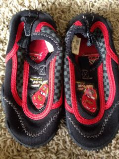 Great condition size 6 1/2 lightning McQueen water shoes for toddlers