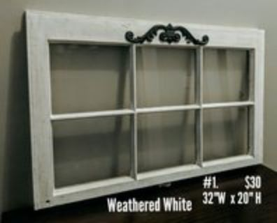 Wood Window for wall decor or picture frame