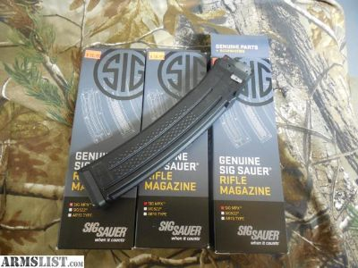 For Sale: 7- 30 Round Sig Sauer MPX Factory Mags NIB