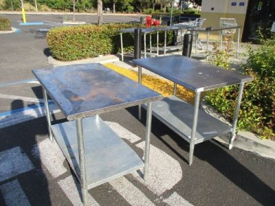 "S/S Work Table 48""W x 30""D w/ Undershelf RTR#8051519-22,23"