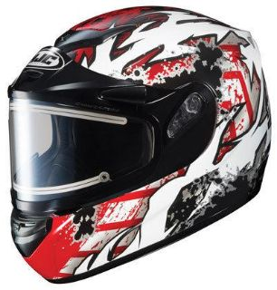 Purchase HJC CS-R2 Large Skarr Red Electric Snowmobile Snow Sled CSR2 Helmet New Lg Lrg L motorcycle in Ashton, Illinois, US, for US $170.99