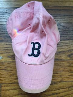 Pink Red Sox hat