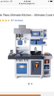 Little tykes boy blue kitchen