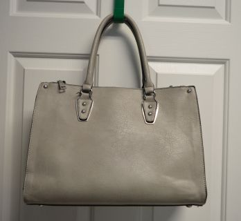 Gray Leather Purse/Tote by Black Rivet