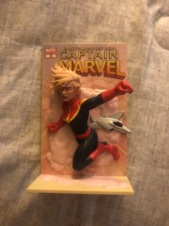 Captain Marvel standee figure