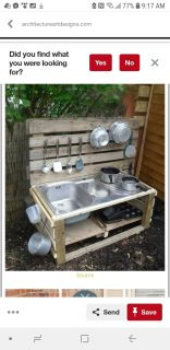 Iso items for a mud kitchen