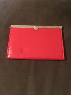 Pretty Red Clutch Style Picture Album Small - small indention on lower bottom