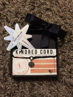 New in box Alex And Ani Kindred Cord butterfly