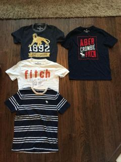 Kids Abercrombie shirts. All barely worn. First 3 Size 11/12 and last one 13/14