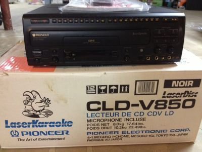Pioneer CLD-V850 LaserKaraoke CD CDV LD Player