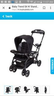 Babytrend sit and stand double stroller