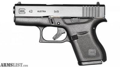 For Sale: Glock 43 9MM Pistol