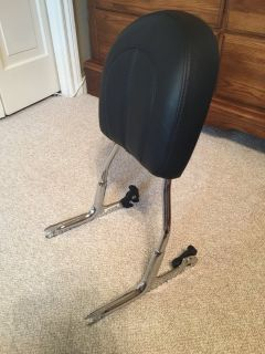 Like New - Harley Davidson OEM Chrome Rear Detachable Upright with Backrest