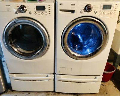 Washer- Dryer and pedestals