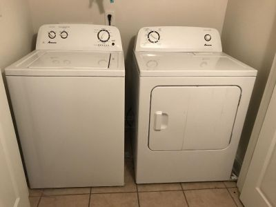 Amana washer and dryer for cheap!