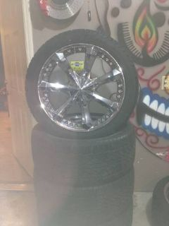 22 5 lug rims and tires.