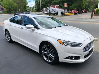 2013 Ford Fusion Titanium (White Platinum Metallic Tri-Coat)