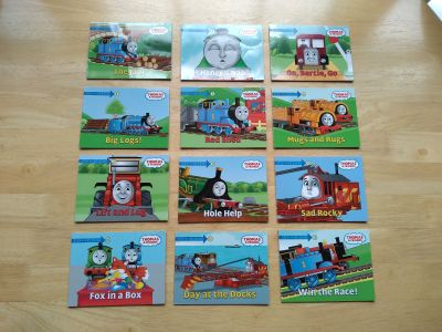 12 small Step into Reading Thomas & Friends books