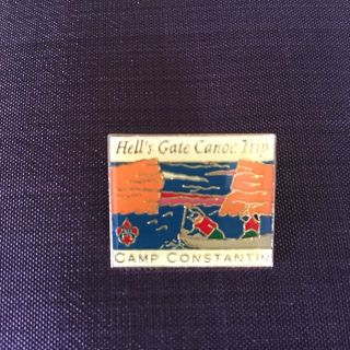 Boy Scouts - colorful Hell s Gate Canoe Trip Camp Constantin