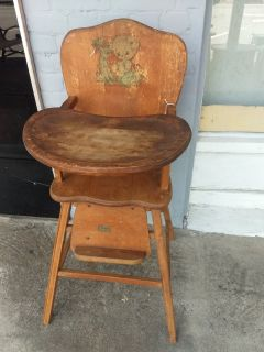 Antique child's high chair