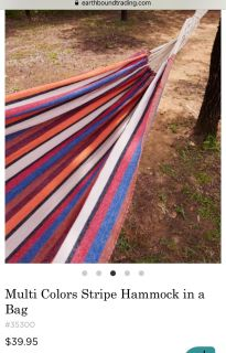 NEW earthbound trading company hammock, excellent quality!