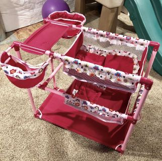 Baby doll bed and feeding
