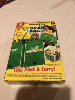 Grocery cart bag. New in box. Never used. 2 in package