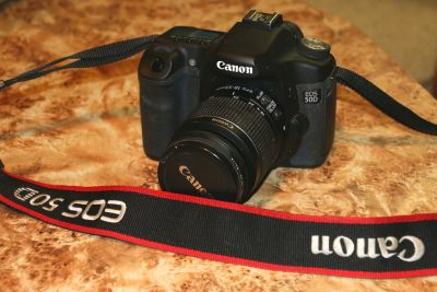 Canon 50D digital camera with Canon 18-55 MM IS II stabilized lens