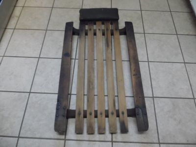 vintage early wood slats & steel roller car creeper rat rod rat truck man cave