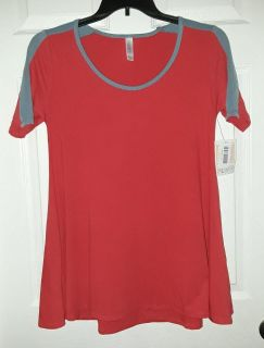$25 Firm Brandnew XS Lularoe Perfect T Red with blue bought wrong size
