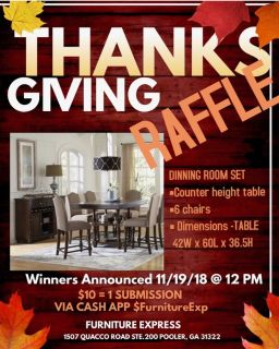 Dining Table Raffle