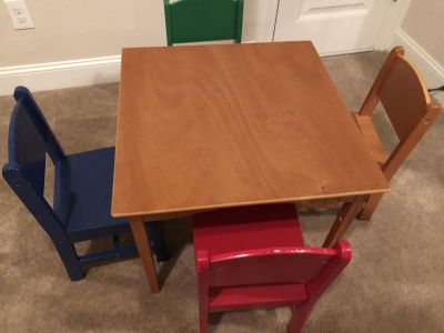 KidKraft wooden kids table & chairs
