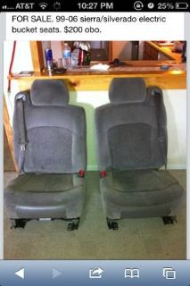99-06 chevy bucket seats