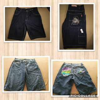 Two pairs of size 40 jean shorts