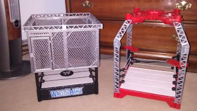 WWE action figure wrestling rings