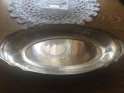 beautiful antique 1926 gorham silverplate bread tray basket nouveau design y 329
