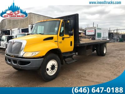 2007 International 4300 FLATBED RACK BODY (Yellow)