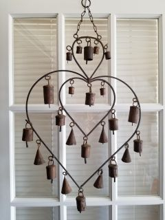 Ornamental Heart With Antique Bells