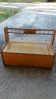 Bench with storage solid wood