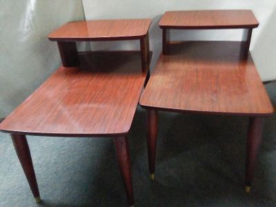 Tables, mid-century end tables