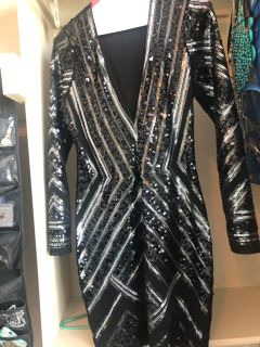 Sequin express dress