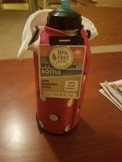 HYDRATION BOTTLE WITH TOTE, BRAND NEW NEVER BEEN USED
