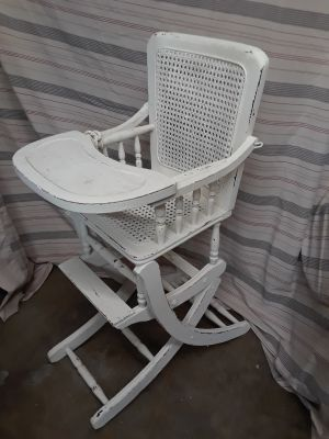 Child's high chair - clean and sturdy- $25.00.
