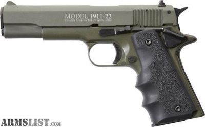 "For Sale: CHIAPPA 1911-22 .22LR 5"" FS 10RD OD GREEN/RUBBER"