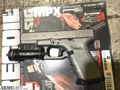 For Sale/Trade: Gen 4 Glock 19 in tactical grey (agency arms, zev, vickers parts)