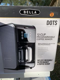 New in Box Bella 12 Cup Programmable Coffee Maker