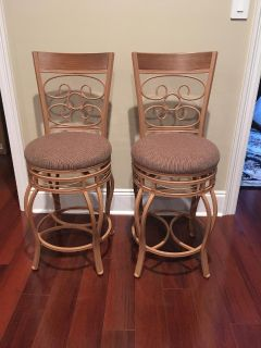 New Set of Two Poundex Counter Height Swivel Bar Stools