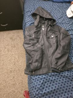 Never used faux leather jacket for women