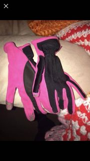 Pink touch gloves