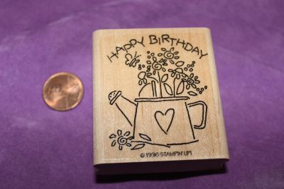 Stampin' Up! Wooden Rubber Stamp: Happy Birthday
